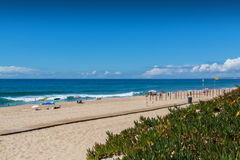 Pisao beach in Santa Cruz, Portugal. Stock Photography