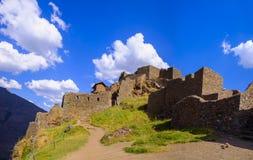 Pisaq inka ruiny w Peru Zdjęcia Stock