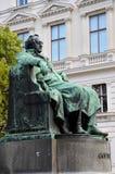 Pisarska Goethe statua Wiedeń Austria Zdjęcia Royalty Free