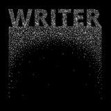 pisarz Abstrakcjonistyczni listy tworzą tło i słowo ilustracji