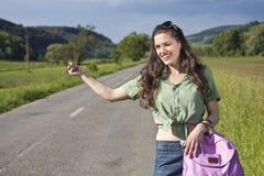 Pisc a mulher que viaja, retrato Imagens de Stock