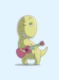 Pisc o dinossauro dos desenhos animados Fotos de Stock Royalty Free