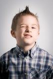 Pisc o menino Fotografia de Stock Royalty Free
