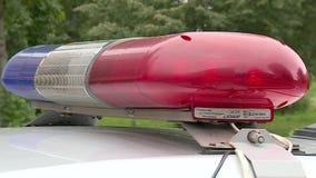 Pisca-pisca do carro de polícia vídeos de arquivo