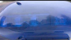 Pisca-pisca do carro de polícia video estoque