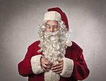 Piscadela de Papai Noel Foto de Stock Royalty Free