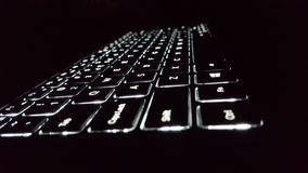 Piscamento do teclado Fotografia de Stock Royalty Free