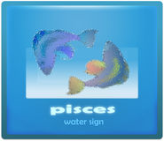 Pisces. Water sign of zodiac system royalty free illustration