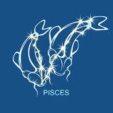 Pisces astrological sign. Constellation. Flat  stock illustration Stock Images
