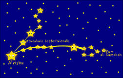Pisces constellation Stock Images