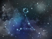 Pisces constellation star Zodiac Stock Photo
