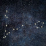 Pisces Constellation. Zodiac Sign Pisces constellation. Lines Galaxy background Zodiac Sign Stock Images