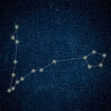Pisces Constellation. Zodiac Sign Pisces constellation. Lines  Galaxy background Zodiac Sign Royalty Free Stock Photography