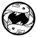 Pisces Fish Zodiac Horoscope Astrology Sign. Pisces fish horoscope astrology zodiac sign symbol Stock Photos