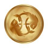 Pisces gold medallion drive Stock Photos
