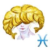 Pisces horoscope raster Royalty Free Stock Photo