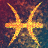 Pisces horoscope sign. Illustration of Pisces zodiac sign Stock Photo