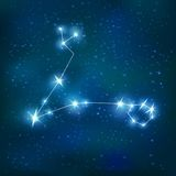 Pisces Realistic Zodiacal Constellation Stock Image