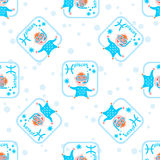 Pisces seamless pattern Royalty Free Stock Images
