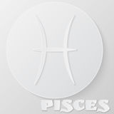 Pisces sign. Paper style icon. Royalty Free Stock Image