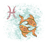 Pisces sign of the zodiac Royalty Free Stock Photos
