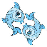 Pisces symbol. Creative design of pisces symbol Stock Photography