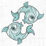 Pisces symbol. Creative design of pisces symbol Royalty Free Stock Photo