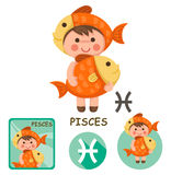 Pisces vector collection. zodiac signs Stock Images