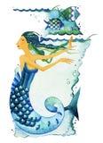 Σημάδι Zodiac Pisces διανυσματική απεικόνιση
