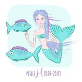 Pisces Zodiac astrological sign Stock Images