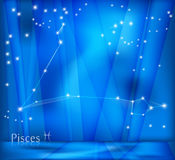 Pisces Zodiac Background Stock Photo