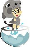 Pisces zodiac cartoon Stock Images