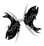 Pisces zodiac horoscope astrology sign Stock Image