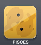 Pisces zodiac icon. Vector illustration background Stock Image