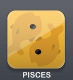 Pisces zodiac icon Stock Image