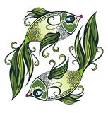 Pisces. Zodiac sign. Stock Images