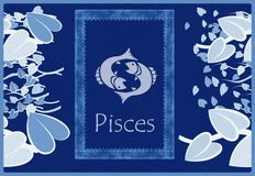Pisces zodiac sign Stock Image
