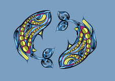 Pisces zodiac sign Royalty Free Stock Photography