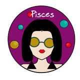 Pisces zodiac sign, female avatar Royalty Free Stock Photography