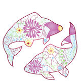 Pisces zodiac sign gradient Royalty Free Stock Photo