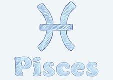 Pisces zodiac Stock Images