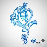 Pisces Zodiac Sign. Vector illustration of Pisces Zodiac Sign Stock Images