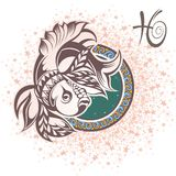 Pisces. Zodiac sign Stock Image