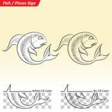 Pisces Zodiac Star Sign Sketch Stock Photos