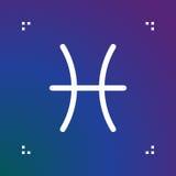 Pisces zodiac vector sign, horoscope symbol, astrology line icon Stock Photos