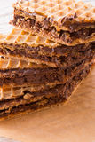 Pischinger (le chocolat oblaten le gâteau) Photographie stock libre de droits
