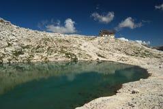 pisciadu горы озера стоковое изображение rf