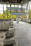 Piscina abbandonata nella città di Pripyat Fotografie Stock
