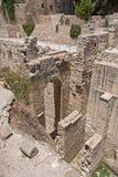 Piscina antigua de las ruinas de Bethesda en la ciudad vieja de Jerusalén Fotografía de archivo libre de regalías