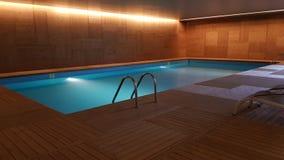 Piscina binnenlandse pool stock afbeelding